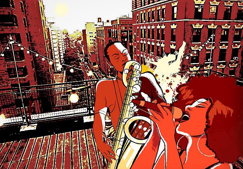 джаз на крыше