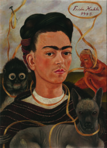 Фрида. Автопортрет с обезьянкой. 1945.