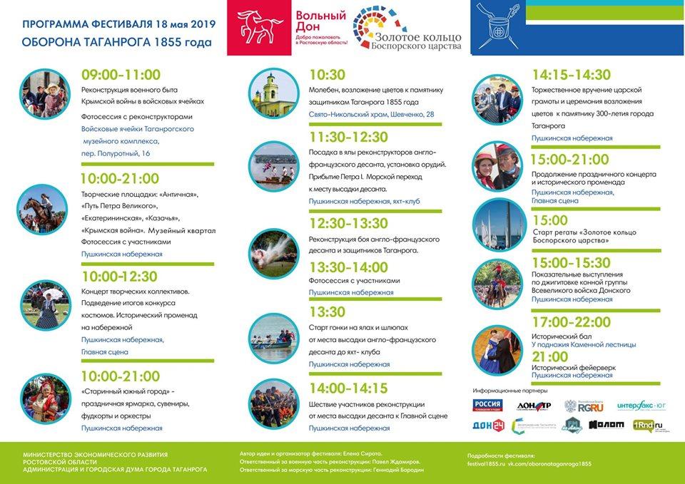 Программа Фестиваля оборона таганрога